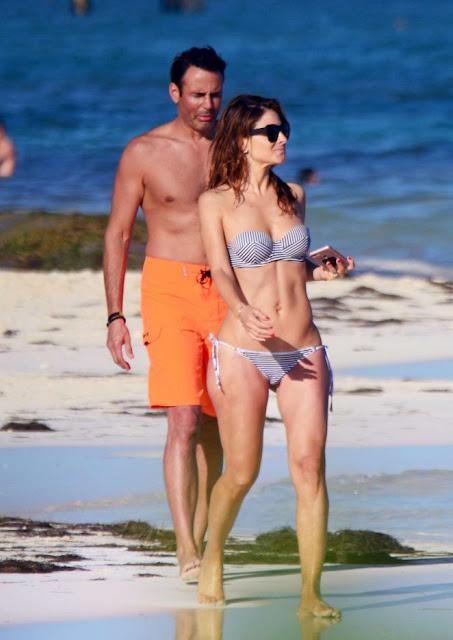 Maria Menounos in Bikini on the beach in Mexico