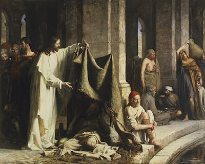 Jesus heals a paralytic at the Pool of Bethesda, Carl Bloch