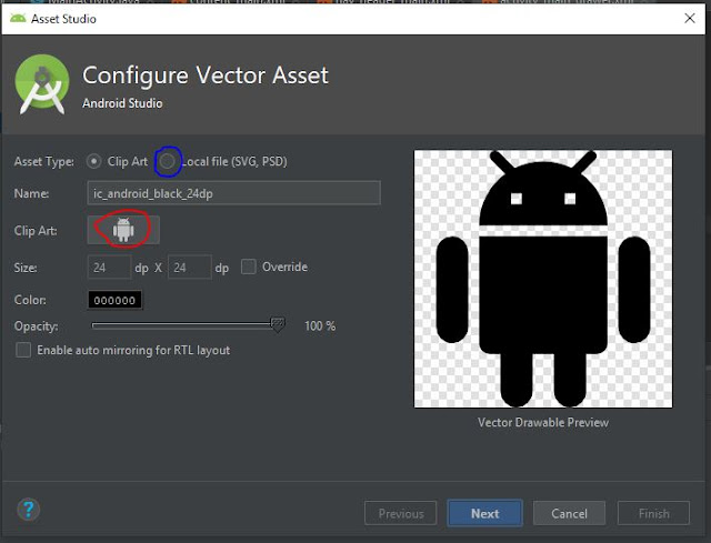 mengganti icon di drawer menu pada android studio