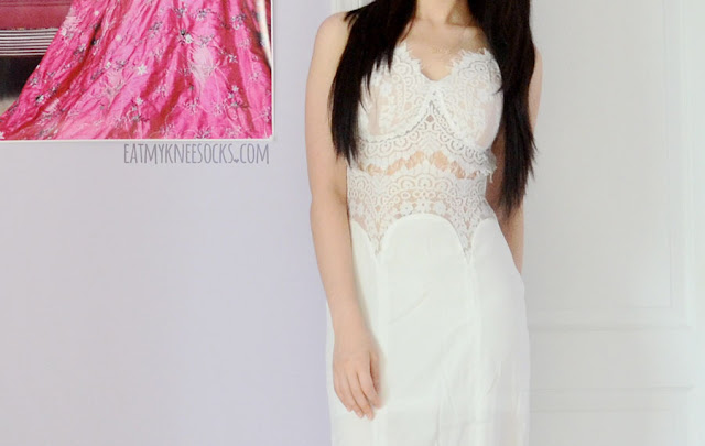 1f6e9665e4 A gorgeous all-white summer outfit, with the eyelash lace cutout maxi dress  from