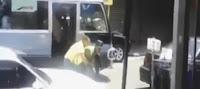 Conductor golpea agente de la Amet