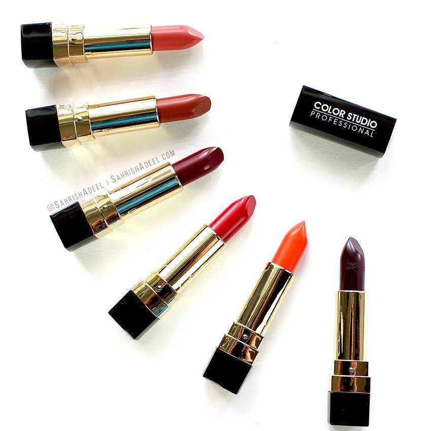 Pure Matt Lipsticks by Color Studio Professional - Review & Lip Swatches