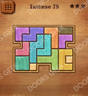 Cheats, Solutions, Walkthrough for Wood Block Puzzle Intense Level 75
