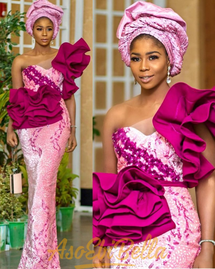 49 Edition of EsB TV #ebfablook - Try This New Aso ebi lace Style Worn last week