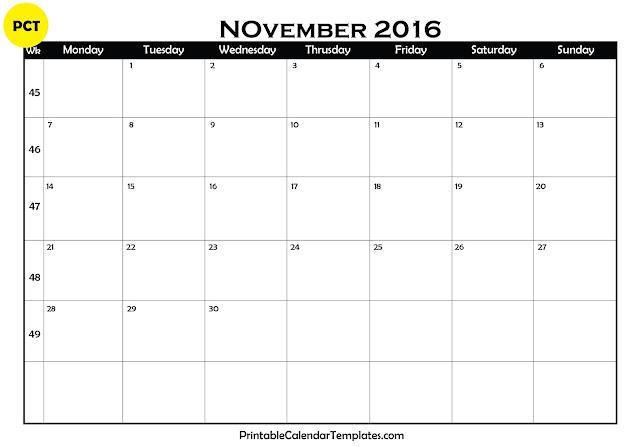 Calendars 2016 Templates That You Can Edit   Calendar Template 2016