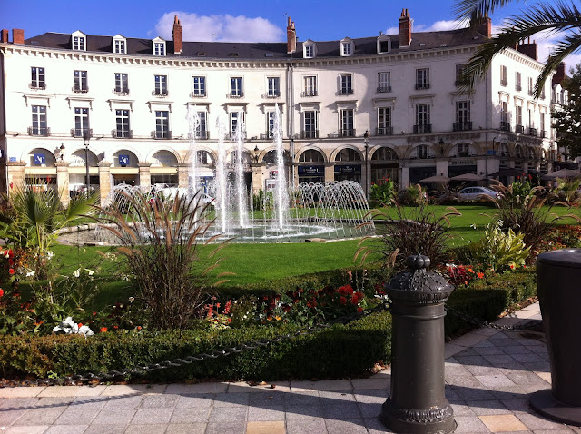 Fountain at Place Jean Jaurès in Tours France