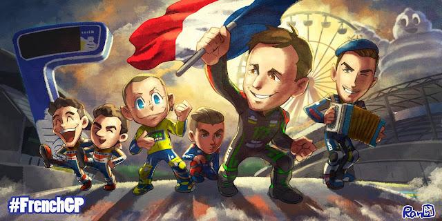 Kualifikasi MotoGP Prancis dan Menunggu Keseruan Balap MotoGP di Le Mans | Start : Vinales #1 - Rossi #2  - Zarco #3