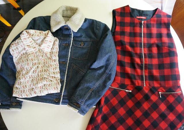 vintage 70s seahorse shirt denim fleece jacket alain manoukian robe dress carreau rouge noire check red black 1970s mod 1960s 60s