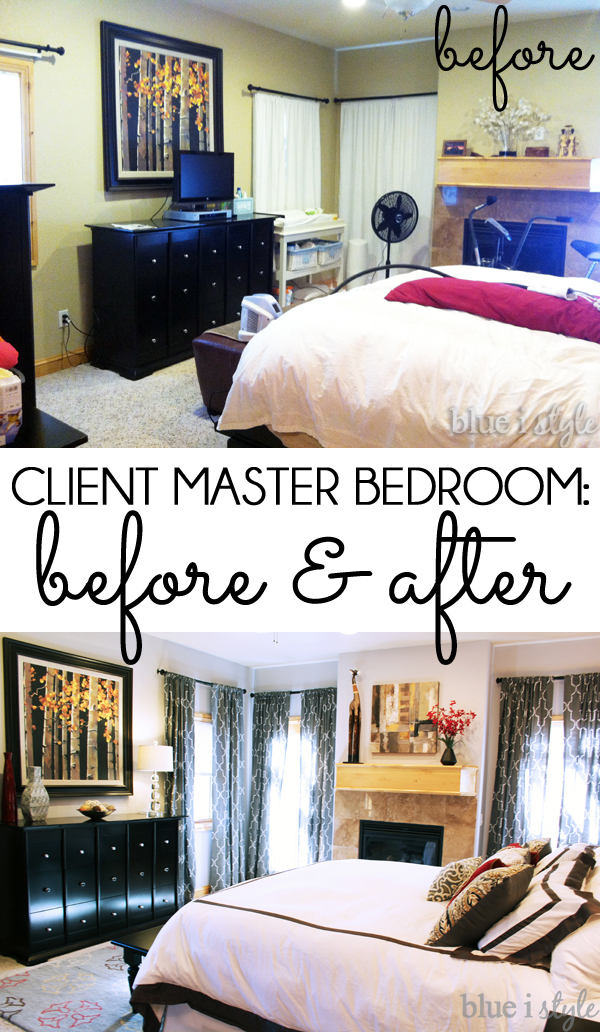 Client Master Bedroom Makeover