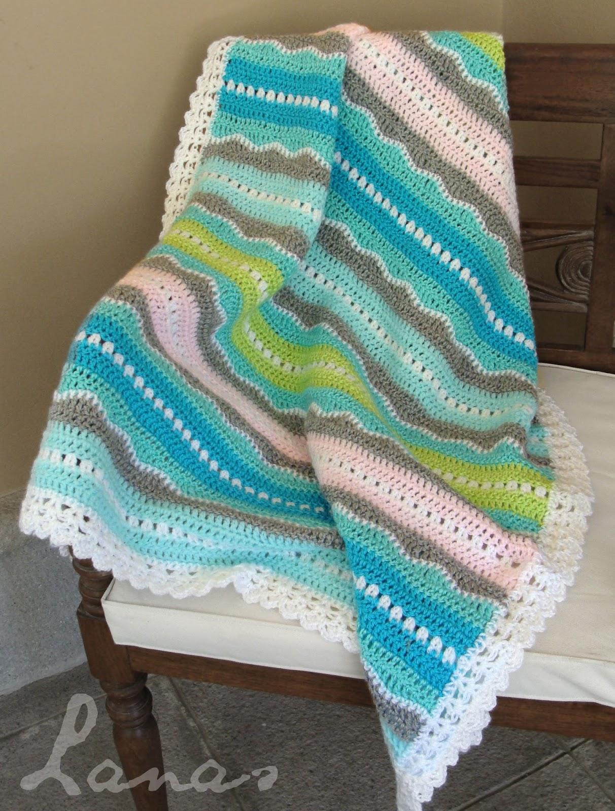 lanas de ana baby blanket sweet ocean breeze. Black Bedroom Furniture Sets. Home Design Ideas