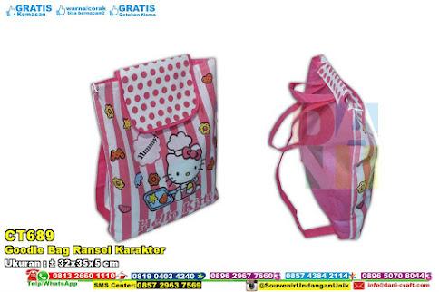 Goodie Bag Ransel Karakter
