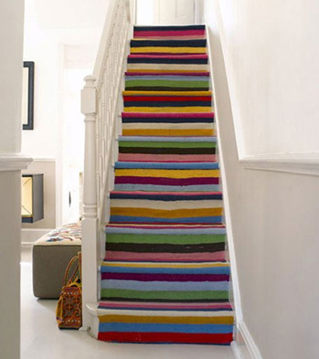 20 Magical And Crafty Ways To Decorate An Indoor Staircase: 10 Carpet Stairs Design Ideas