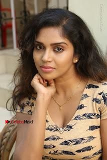 Telugu Actress Karunya Chowdary Stills in Short Dress at ATM Not Working Press Meet  0147.jpg