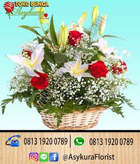 Toko Bunga Bekasi Rose In Basket