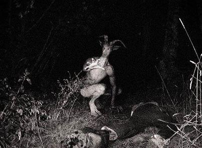 Demonio en los bosques de Noruega