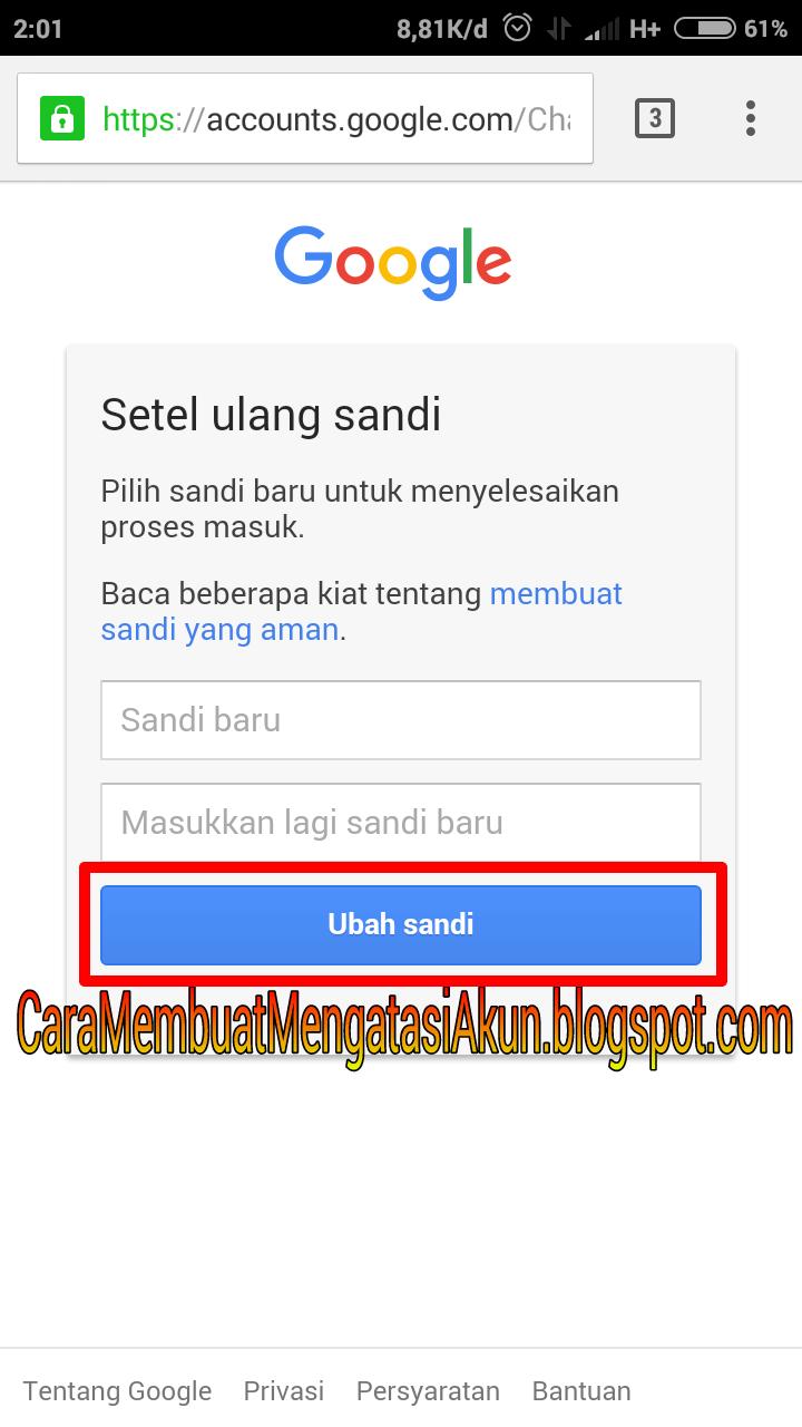 Cara Mengganti Password Gmail Lewat Android Play Store