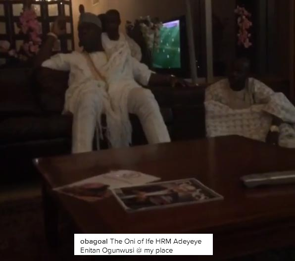 Ooni of Ife visits Obafemi Martins, social media reacts