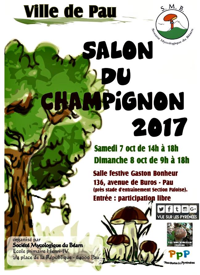 Les c pes le salon du champignon pau 2017 for Les salons 2017