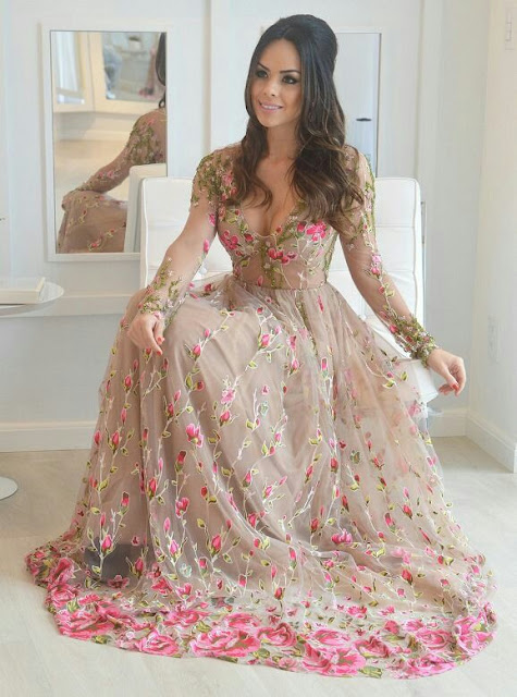 Gorgeous Long  Floral print dress