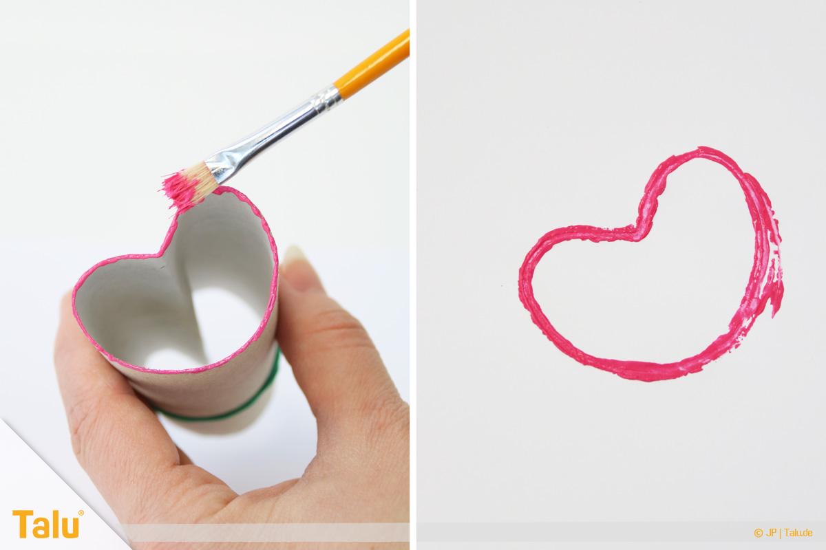 Herz Basteln Ideen Valentinstag Herzstempel Für Kinder