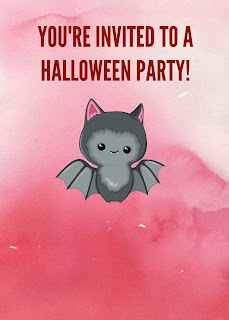pink halloween invitations
