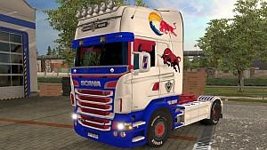 Scania RJL V8 Redbull skin by LazyMods