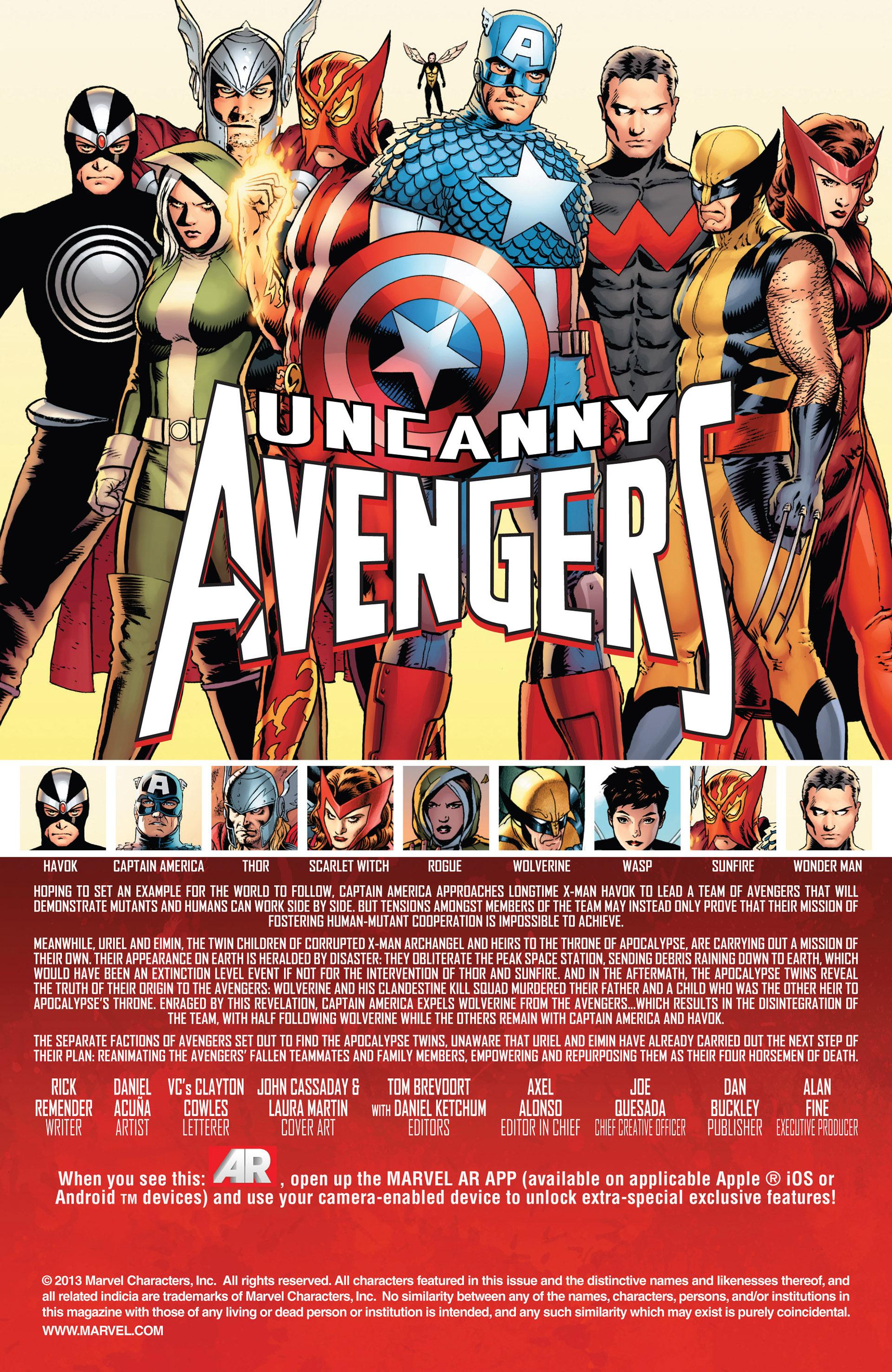 Read online Uncanny Avengers (2012) comic -  Issue #10 - 2