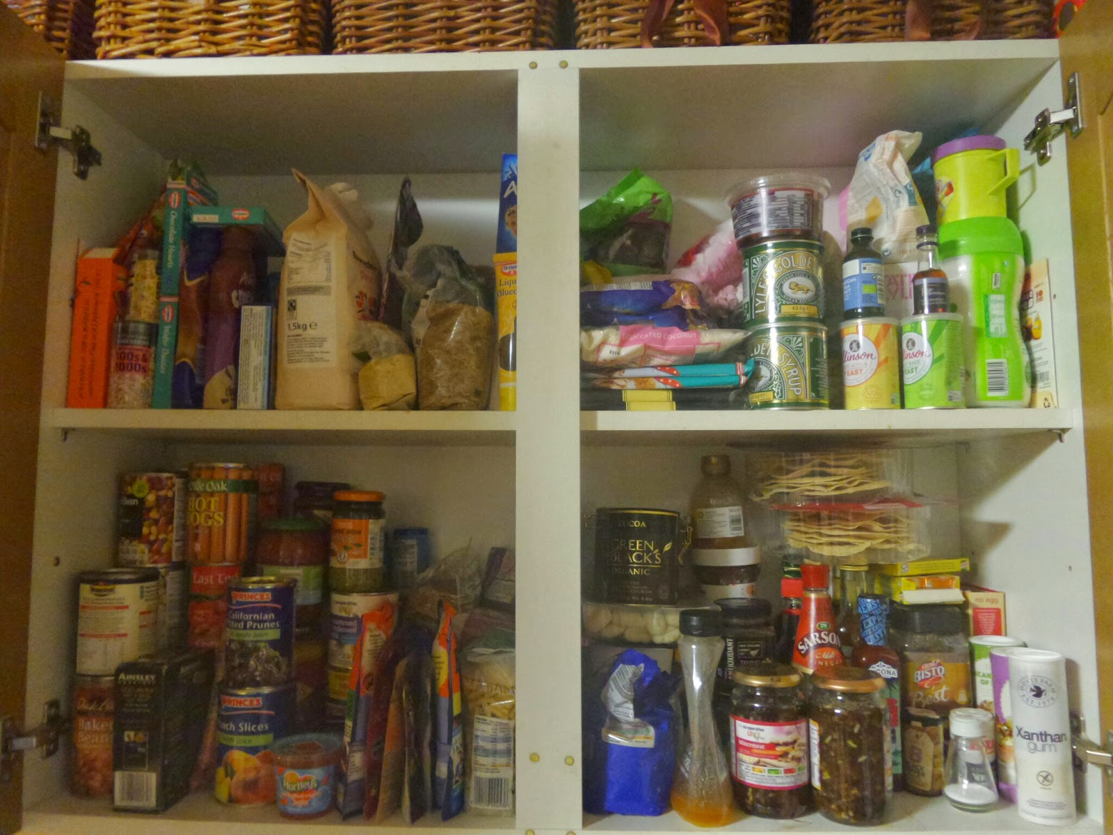 Inside a Cupboard in my Kitchen. I don't own anything in this cupboard now as this picture is YONKS old!