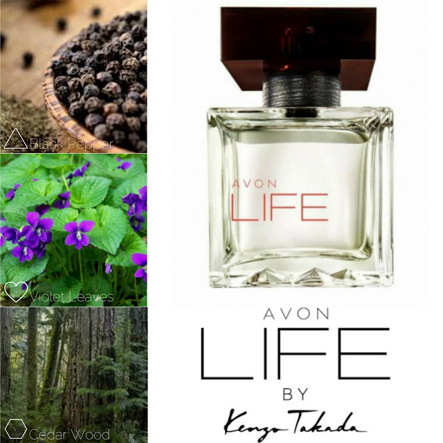 AVON LIFE by Kenzo Takada eau de toilette for him. A woody and spicyblend and its olfactory notes.