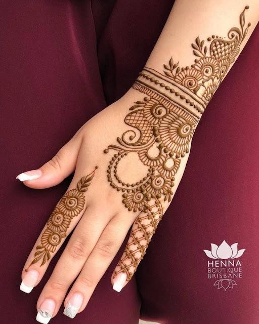 Latest Simple Mehndi Designs & Arts for Asian Girls 2018-19