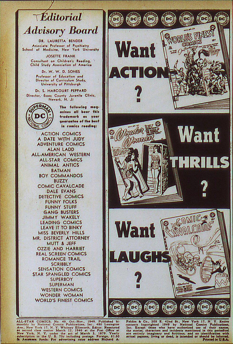 Read online All-Star Comics comic -  Issue #49 - 1