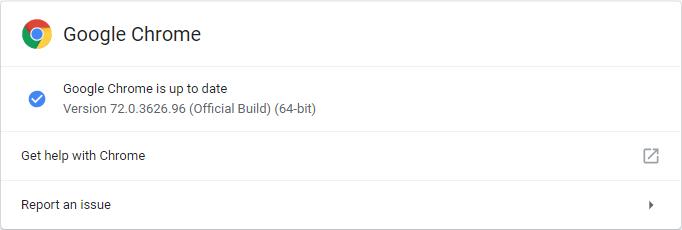 Google Chrome 72.0.3626.96