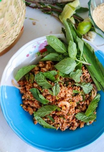 Hướng dẫn Salad thịt băm Thái Lan