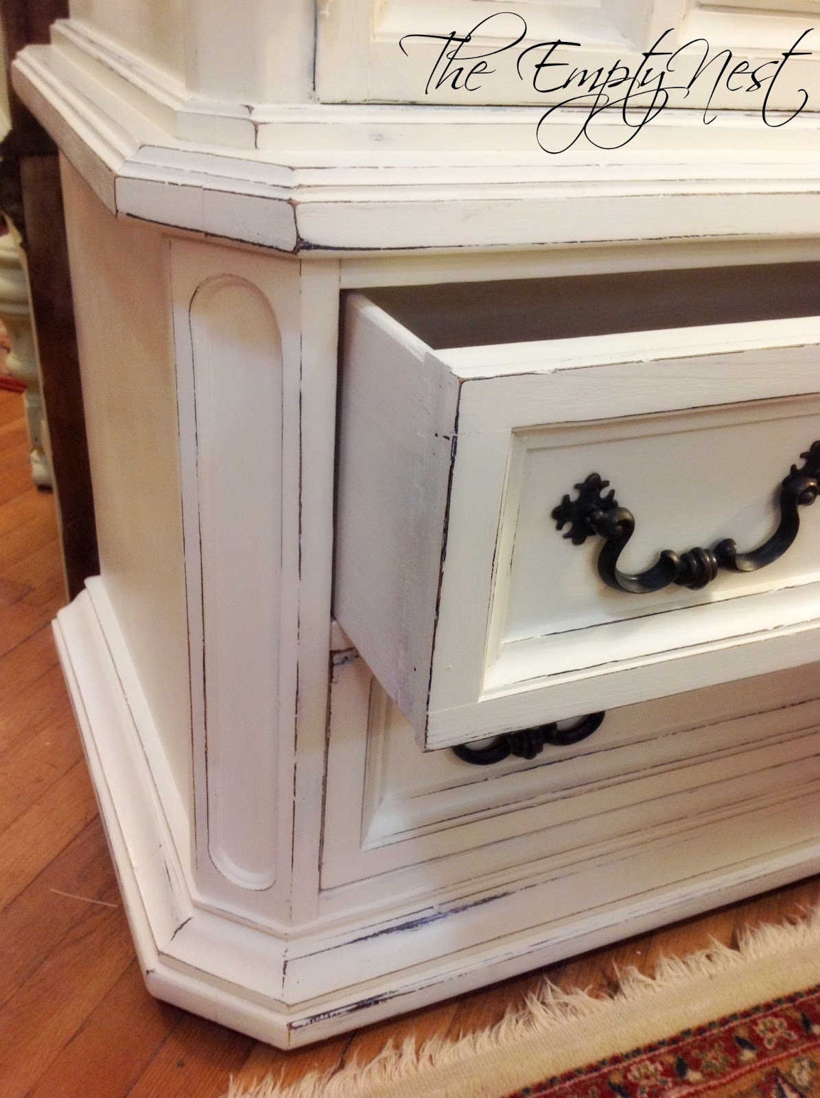 The Empty Nest Who 39 S Snickering Now Or How To Transform Your Outdated Furniture With Chalk