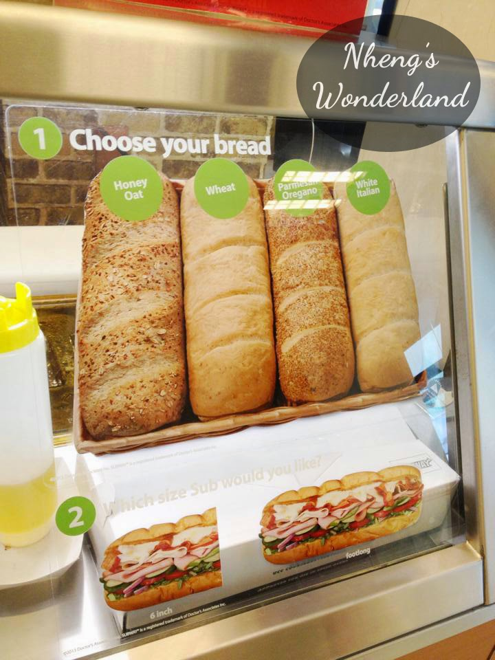 Subway Bread Choices
