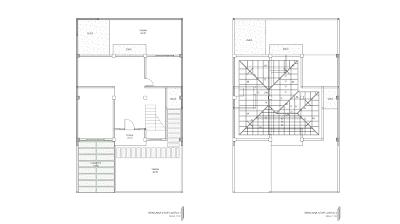 Gambar Rencana Atap Lantai 1 dan 2