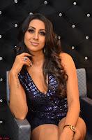 Sanjana looks happy in sparkling short Deep neck Purple Gown ~  Exclusive 80.JPG