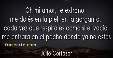 Julio Cortázar – te extraño mi amor