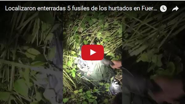 Video del momento en el que localizan las armas de Paramacay