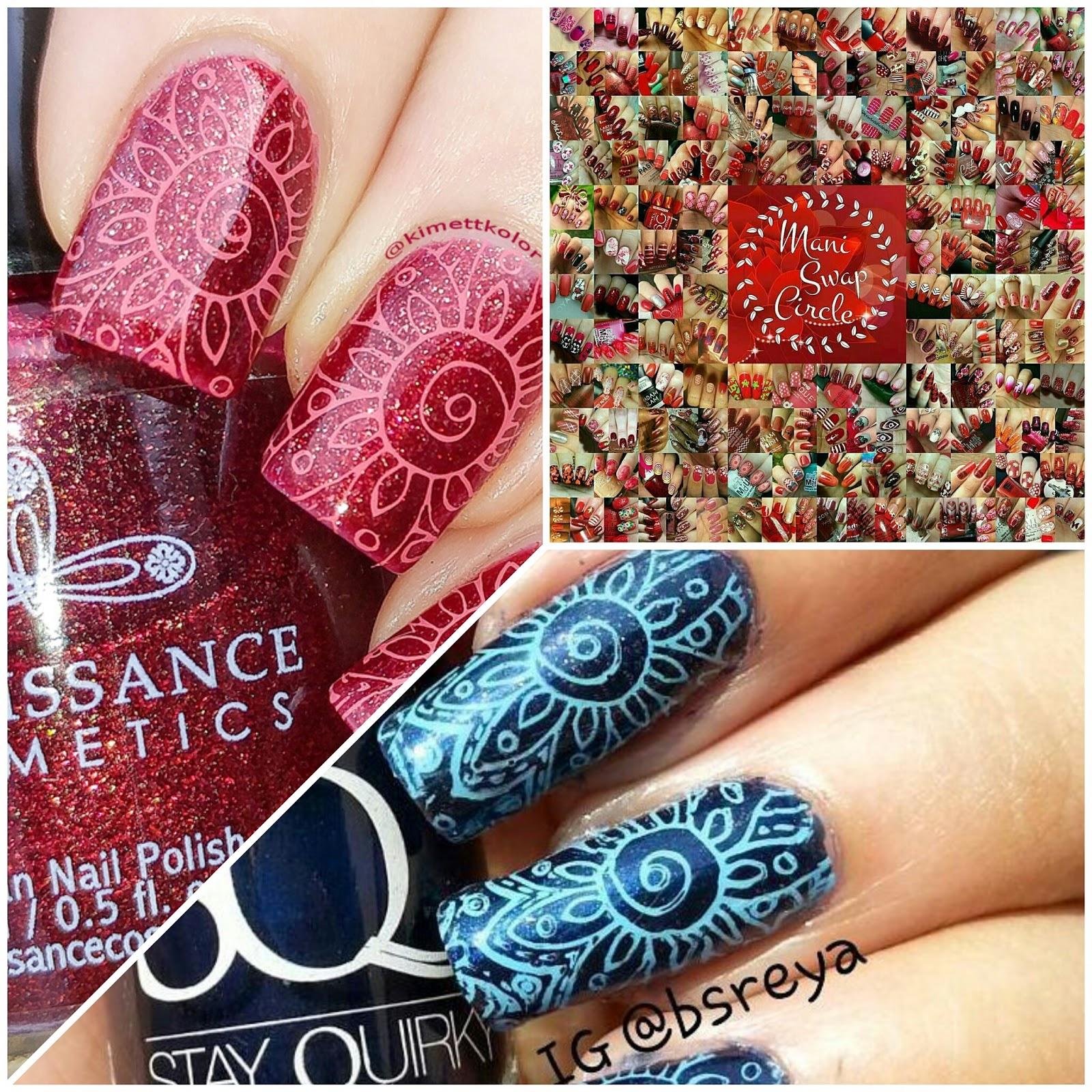 KimettKolor ManiSwapCircle Red Nail Art