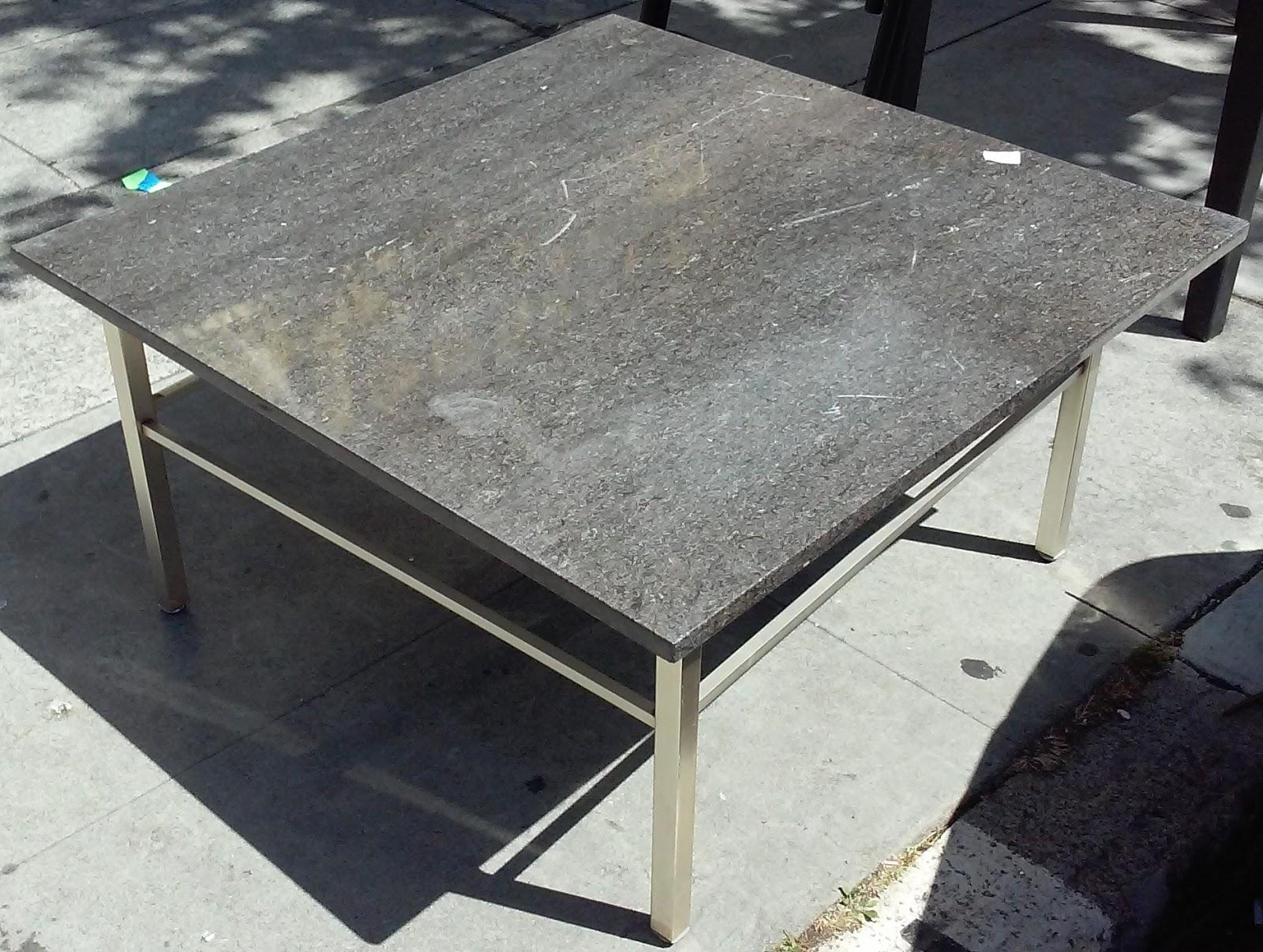 Uhuru Furniture Collectibles Sold Bargain Buy 2745 3 39 Square Granite Top Coffee Table 30