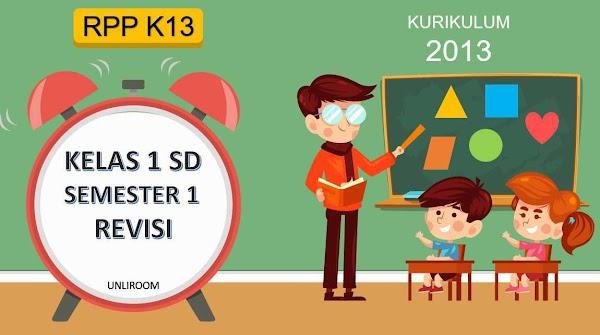 RPP Kelas 1 Semester 1 Kurikulum 2013 Revisi 2018 Tematik
