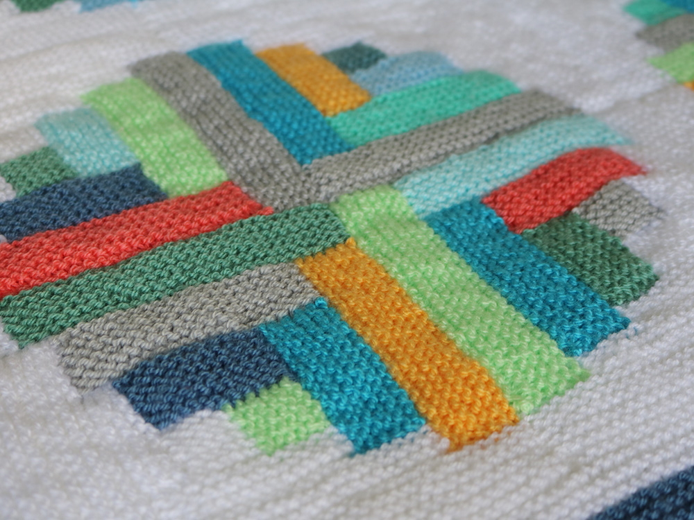 Mack and Mabel: Portholes Log Cabin Blanket - a new pattern