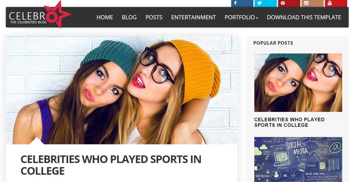 Celebro Responsive Blogger Template