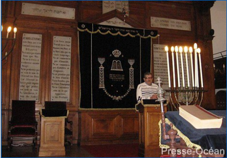 Avec le rabbin Yoni Krief, Luc Pincaud, président de la communauté juive de Nantes sera l'hôte dimanche de Gilles Bernheim, grand rabbin de France.