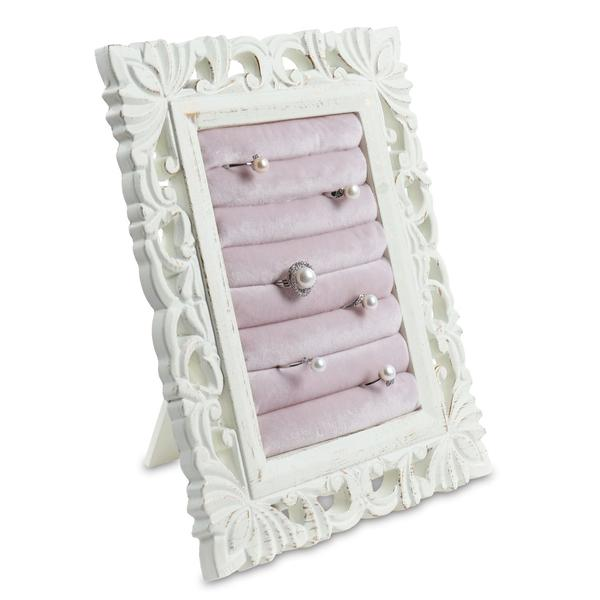 Shop for an antique wooden ring slots jewelry display stand.