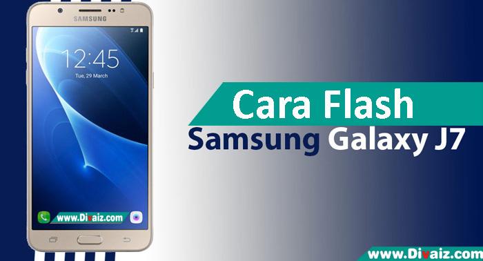 Cara Flash Samsung Galaxy J7 SM-J700F