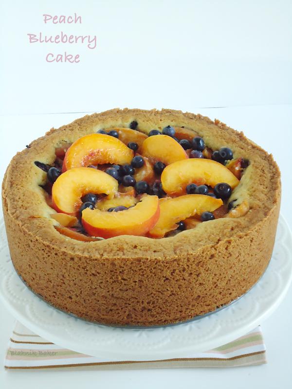 Peach Blueberry Bourbon Cake| www.blahnikbaker.com