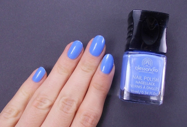 Alessandro Baby blue nail polish swatch review 6