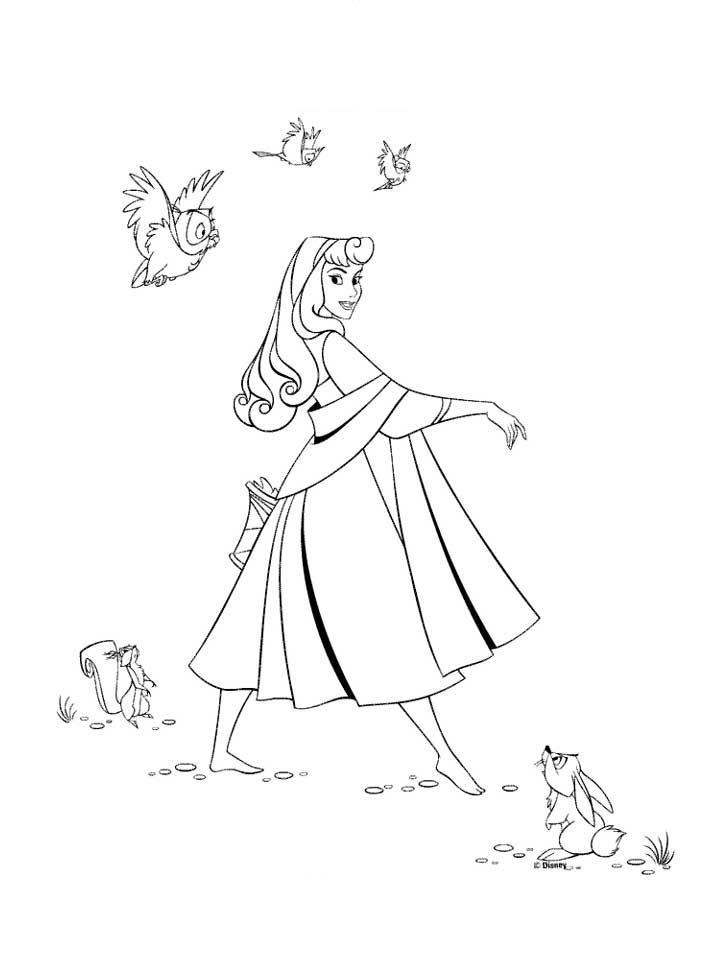 It is an image of Slobbery Princess Aurora Coloring Pages